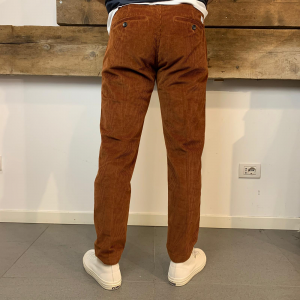 Pantalone Uomo Department 5 Prince Denim in Velluto a Costine Ruggine