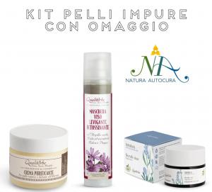 Kit Pelli Impure con OMAGGIO inserisci il CODICE: KITNATURAUTOCURA IN OMAGGIO il Tonico e il Latte detergente Flowers and Fruits