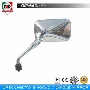 F1499  SPECCHIO CROMATO SINISTRO D.8 MM.SCOOTER MOTOCICLI FAR