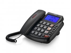 Brondi Bravo 90 Telefono analogico Nero Identificatore di chiamata