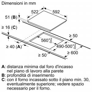 Siemens iQ500 ED611BSB5E piano cottura Nero Da incasso A induzione 4 Fornello(i)