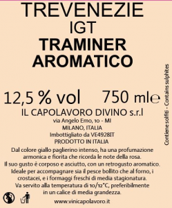 Traminer Aromatico IGT delle Venezie