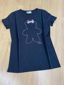 Tshirt Vicolo Stampa Teddy fiocco scozzese