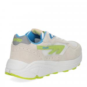 Hi-Tec Sneaker Shadow white blue lime-5