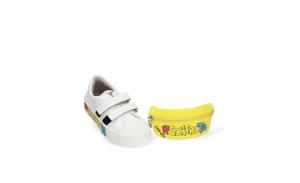 Sneakers Alicia 5 Me Contro Te con marsupio milk/yellow LIU JO
