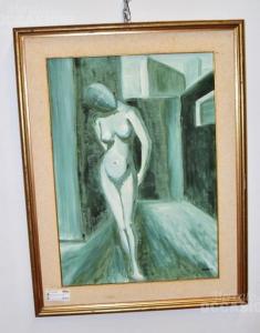 Quadro Nudo Di Donna 66x86 Astolfi anno 1976