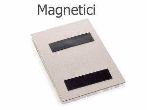 Set 16 bloc notes magnetici in carta con matita e calamita