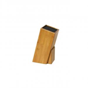 Ceppo portacoltelli universale inclinato in Bamboo cm.10x10x24h