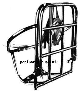 C36/36/A PORTAPACCHI POSTERIORE LAMBRETTA 125 150 LI 2° SERIE INNOCENTI