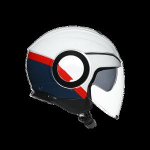 Casco AGV Orbyt Block Pearl White/Ebony/Red Fluo