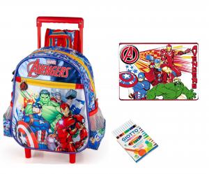 Trolley Asilo vari personaggi + Tovaglietta e Colori Omaggio 2020/21 (Avengers)