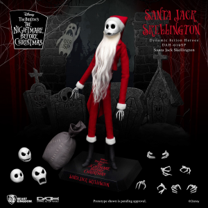 *PREORDER* Nightmare before Christmas Action Figure: SANTA JACK SKELLINGTON by Beast Kingdom