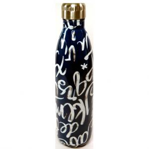 Bottiglia termica blu e bianca 750ml