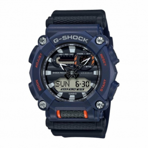 Casio G-Shock orologio digitale multifunzione, cassa blu,  particolari arancioni