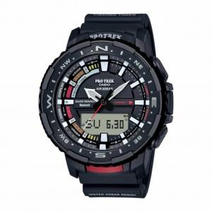 Casio Pro Trek orologio analogico - digitale uomo multifunzione nero e rosso
