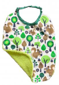 Scoiattoli Verdi - bavaglino con elastico