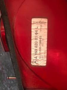 Fanale sx usato Mercedes-Benz Classe A w/c169 A1698200364L