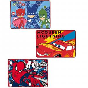 N. 3 Tovagliette all'americata Vari Personaggi in Misto Cotone (Pj Mask - Cars - Spiderman)