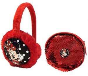 Minnie Paraorecchie + Portaspiccioli con paillettes Disney