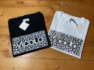 TShirt Vicolo con logo e stampa maculata