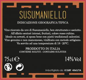 Susumaniello IGT - Contada Li Vecchi
