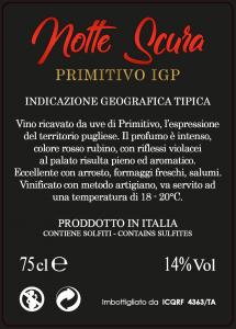 Notte Scura - Primitivo IGT - Contrada Li Vecchi