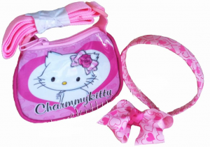Borsa con cerchietto e fiocco Hello Kitty