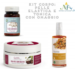 Kit Corpo: Pelle Elastica e Tonica con OMAGGIO inserisci il CODICE: KITNATURAUTOCURA IN OMAGGIO 1 confezione di Aloe 30 Capsule
