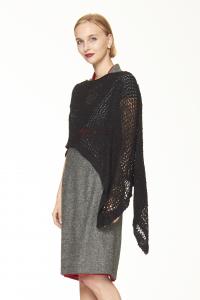Caldo Ponchetto nero   Abbigliamento etnico invernale donna