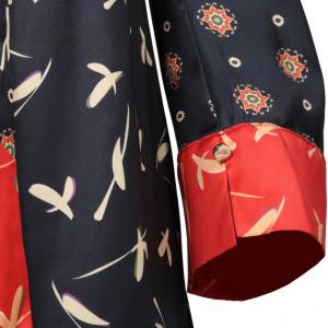 Blusa Faggio stampa foulard NENETTE
