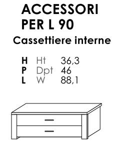 CASSETTIERA INTERNA ARMADI  TARGET- VANO 90CM