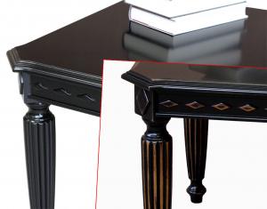 Schwarzer Couchtisch rechteckig aus Holz - PROMO