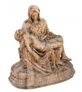 Holzschnitzerei aus Olivenbaum Pietà PROMO