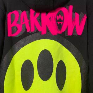 Felpa Barrow Hoodie Unisex con Smile Grande sul Retro Nera