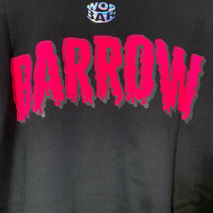 Maglia Barrow Jersey Fiamme Unisex Nero