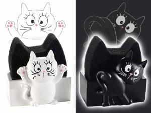 Porta spugna a forma di gatto in resina
