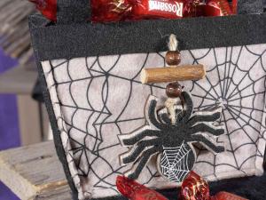 Set 8 borsette in panno con personaggio di Halloween