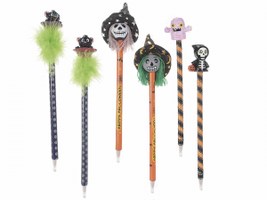 Set 24 penne a sfera con personaggio Halloween