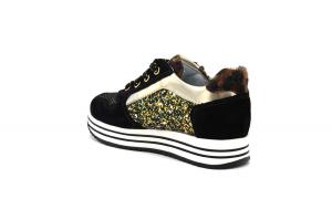 Sneaker bambina in camoscio