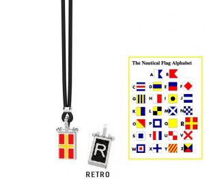 Zancan Collana Nautica (Bandiera Alfabeto Nautico, Lettera R)