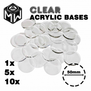 3mm Acrylic Clear Bases, Round 50mm
