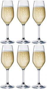 Set 6 Calici Flute prosecco in vetro Divino cl 24 cm.21,3h diam.6,6