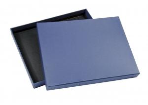 Scatola blu con interno nero cm.26x21x2,5h