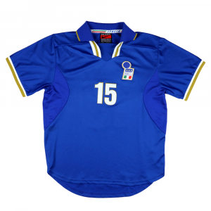1996-97 Italia Maglia Home Match Issue  #15 L (TOP)
