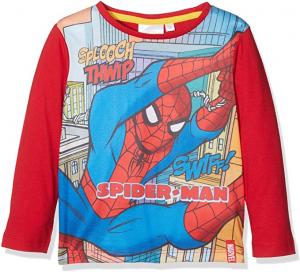 DC Comics Ultimate Spiderman Agility T-Shirt, Rosso, 7-8 Anni Bambino