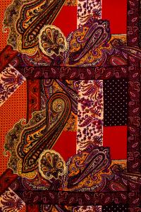 RASO FANTASIA CASHMERE -PATCHWORK/rosso-viola-nero