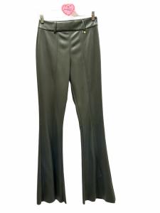 Pantalone zampa ecopelle
