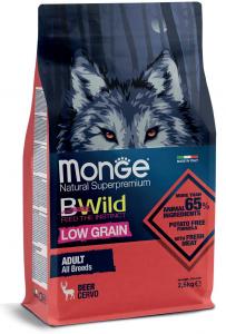 MONGE B-WILD LOW GRAIN - CERVO - ADULT ALL BREED