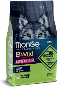 MONGE B-WILD LOW GRAIN - CINGHIALE - ADULT ALL BREED