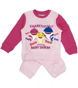 Pigiama Baby Shark Bambina da 12 a 30 Mesi in Caldo Cotone Inverno 2021